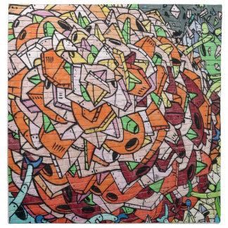 Mosaic Graffiti Art Napkin