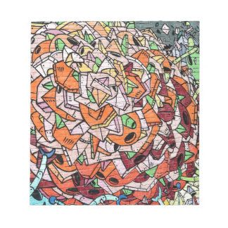 Mosaic Graffiti Art Notepad