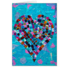 Mosaic Heart Collage Card