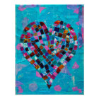 Mosaic Heart Collage Poster
