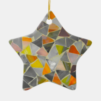 Mosaic in Colour Christmas Ornament