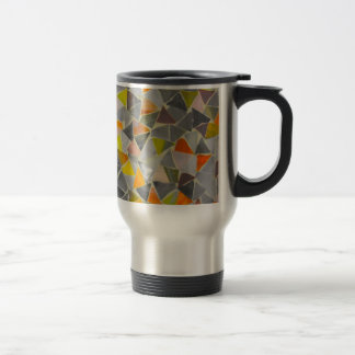 Mosaic in Colour Travel Mug