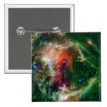 Mosaic is of the Soul Nebula 15 Cm Square Badge