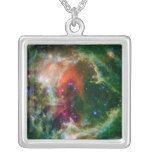 Mosaic is of the Soul Nebula Silver Plated Necklace