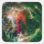 Mosaic is of the Soul Nebula Square Sticker