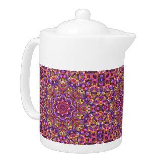 Mosaic Kaleidoscope  Pattern Teapots