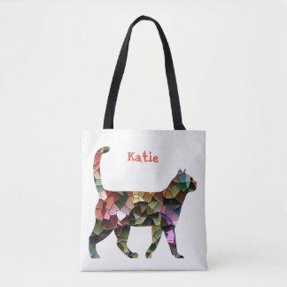 Mosaic Kat Tote Bag