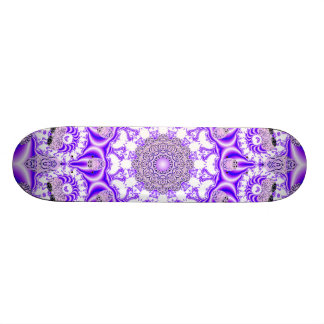 Mosaic Lace Mandala, Abstract Violet Purple Skateboard Deck