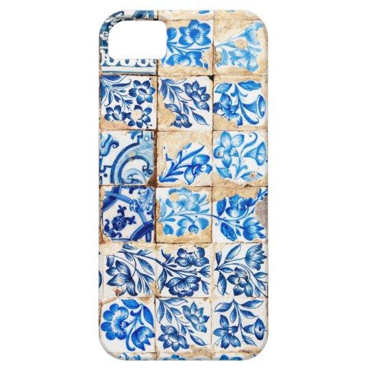 mosaic lisbon blue decoration portugal old tile case for the iPhone 5