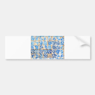 mosaic lisbon blue decoration portugal old tile po bumper sticker