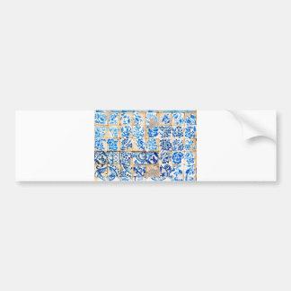 mosaic lisbon blue decoration portugal old tile po bumper sticker