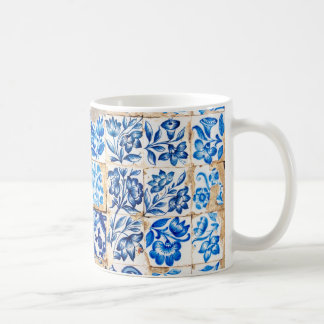 mosaic lisbon blue decoration portugal old tile po coffee mug