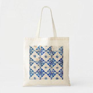 mosaic lisbon blue decoration portugal old tile po tote bag