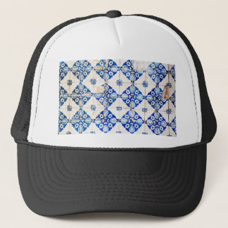 mosaic lisbon blue decoration portugal old tile trucker hat
