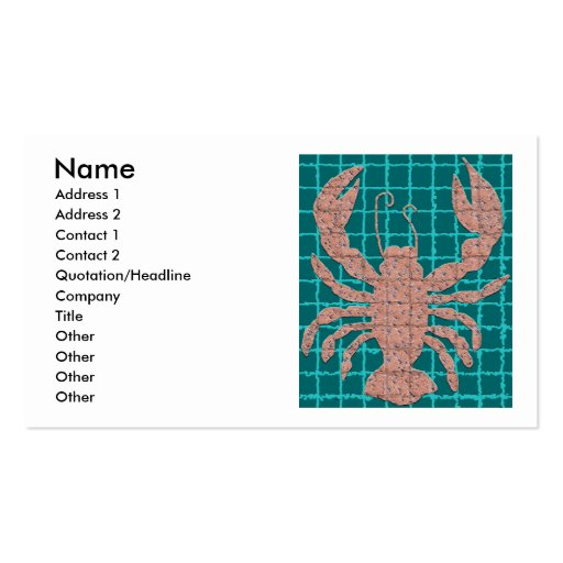 Mosaic Lobster business cards