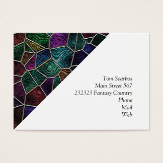 Mosaic Lora, multicolor Business Card