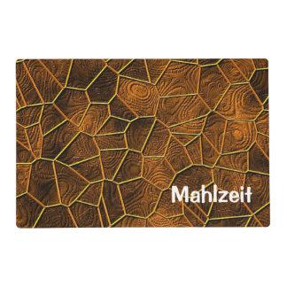 Mosaic Lora, warm brown Laminated Placemat