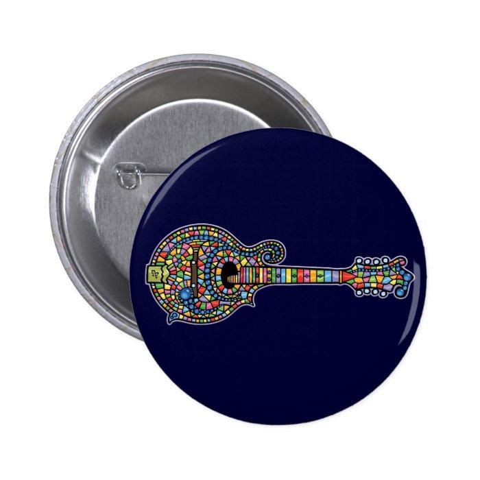 Mosaic Mandolin 6 Cm Round Badge
