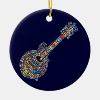 Mosaic Mandolin Christmas Ornament