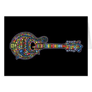 Mosaic Mandolin Greeting Card