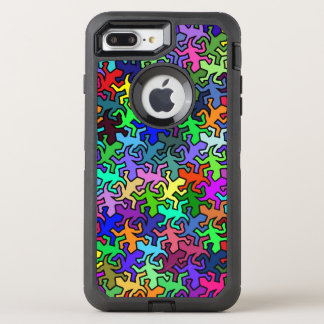 Mosaic Mirror Geckos Pattern - multi colored OtterBox Defender iPhone 8 Plus/7 Plus Case