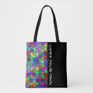 Mosaic Mirror Geckos Pattern - multi colored Tote Bag