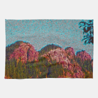 Mosaic Mountain Tea Towel