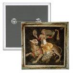 Mosaic of Dionysus riding a Leopard c.180 AD 15 Cm Square Badge