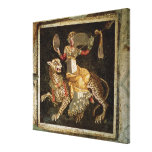 Mosaic of Dionysus riding a Leopard c.180 AD Stretched Canvas Print