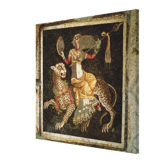 Mosaic of Dionysus riding a Leopard c.180 AD Canvas Print