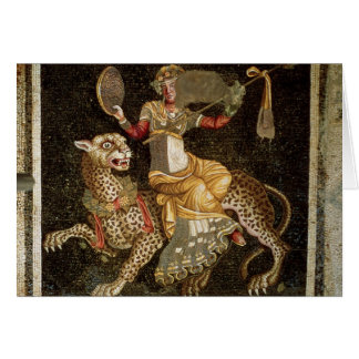 Mosaic of Dionysus riding a Leopard c.180 AD Card