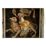 Mosaic of Dionysus riding a Leopard c.180 AD Greeting Card