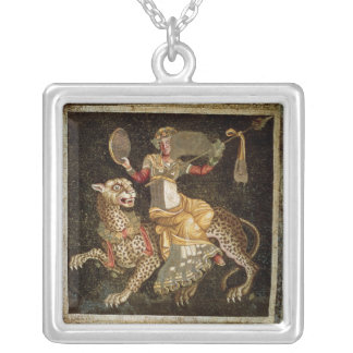Mosaic of Dionysus riding a Leopard c.180 AD Silver Plated Necklace