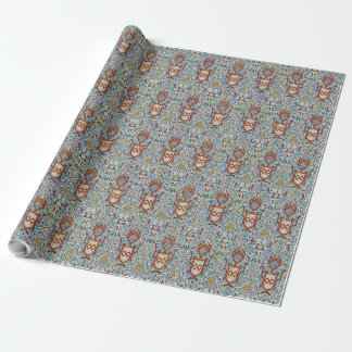 Mosaic of FrenchGrey color of the Alhambra. Wrapping Paper