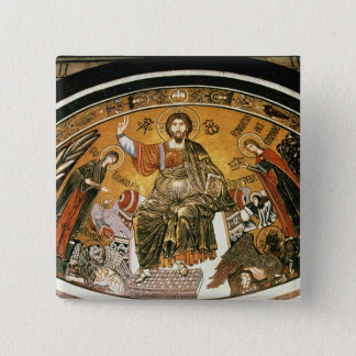 Mosaic of Jesus Christ with the Virgin 15 Cm Square Badge