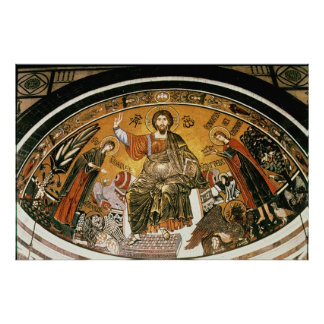 Mosaic of Jesus Christ with the Virgin Poster