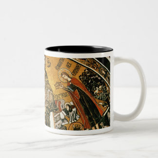 Mosaic of Jesus Christ with the Virgin Two-Tone Coffee Mug