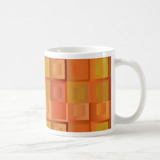 Mosaic orange classic white coffee mug