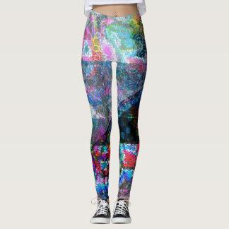 Mosaic overlay leggings