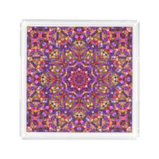 Mosaic Pattern Acrylic Trays, 2 shapes 4 sizes Acrylic Tray
