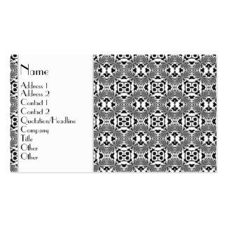 Mosaic pattern Black Business Card