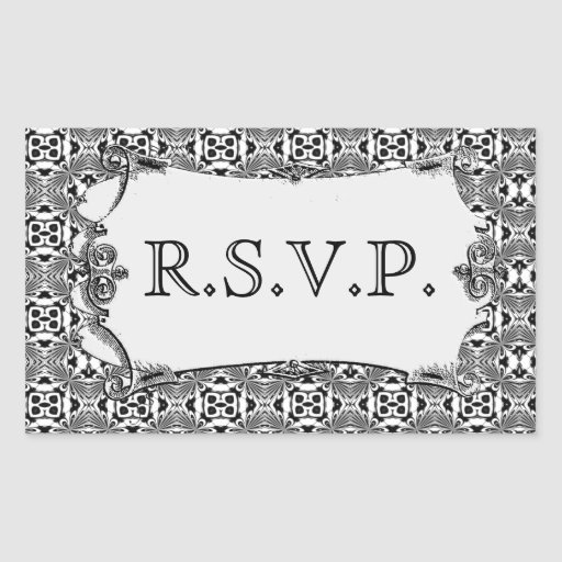 Mosaic pattern (Black) (Wedding) Rectangle Sticker