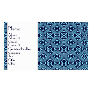 Mosaic pattern (Blue) Business Card Templates