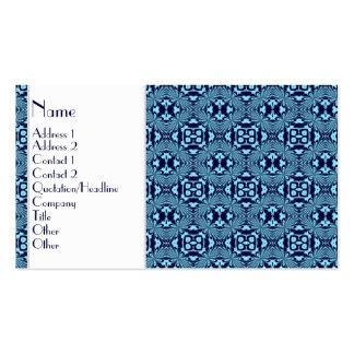 Mosaic pattern Blue Business Card Templates