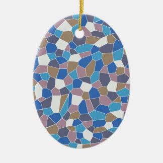 Mosaic Pattern Ceramic Oval Decoration