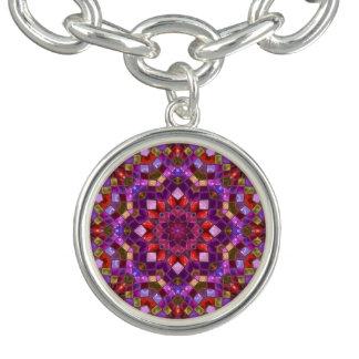 Mosaic Pattern Charm Bracelets, round or square