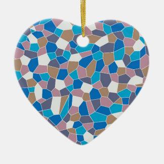 Mosaic Pattern Christmas Ornament