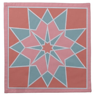 Mosaic pattern cloth napkins