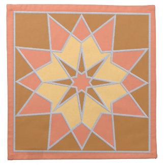 Mosaic pattern cloth napkins