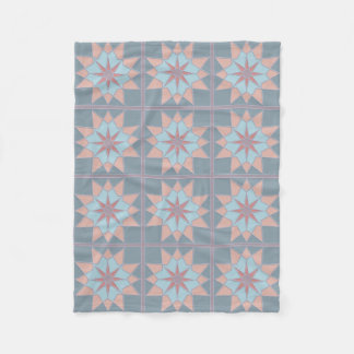 Mosaic pattern custom fleece blanket